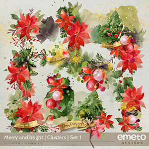 Merry and bright  - Clusters (1)