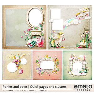 Ponies and bows - Quick pages and clusters