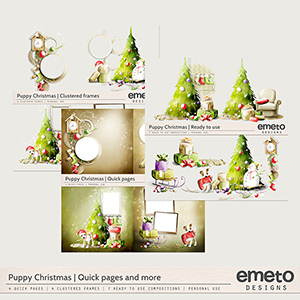 Puppy Christmas - Quick pages, clustered frames and more