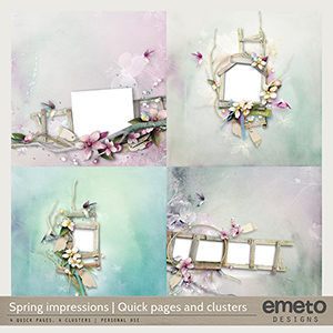 Spring Impressions - Quick pages and clusters