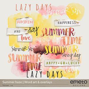 Summer haze - word art & overlays
