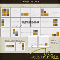 defining you - layered template album
