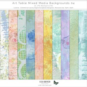 Art Table Mixed Media Bkgs 04 by Vicki Robinson