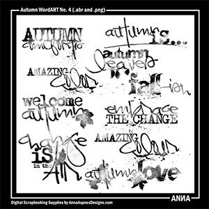 Autumn WordART No. 4