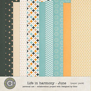Life In Harmony - June {Papers}