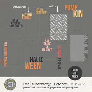 Life In Harmony - October {Invisible Masks}
