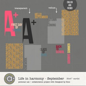 Life In Harmony - September {Invisible Masks}