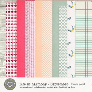 Life In Harmony - September {Papers}