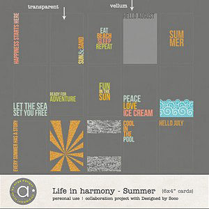 Life In Harmony - Summer {Invisible Masks}