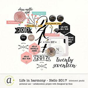 Life In Harmony - Hello 2017 {Elements}