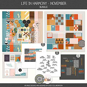 Life In Harmony - November {Bundle}