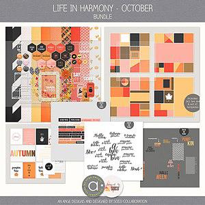 Life In Harmony - October {Bundle}
