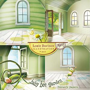 Baby Bee Garden Nursery Papers