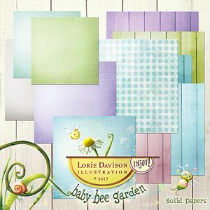 Baby Bee Garden Plain Papers