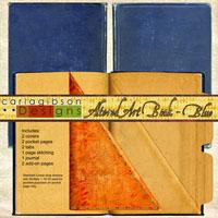 Altered Art Book - Blue