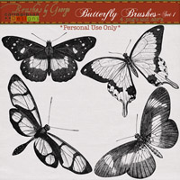 Butterfly Brushes Set 1
