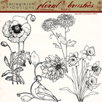 Floral Brushes Set 10