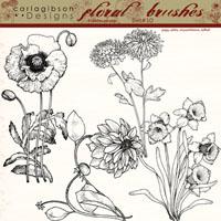 Floral Brushes Set 10