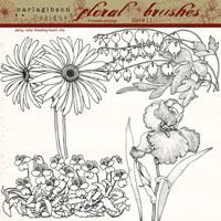 Floral Brushes Set 11