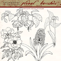 Floral Brushes Set 9