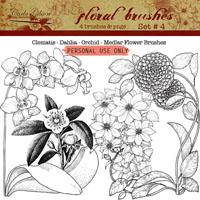 Floral Brushes Set #4