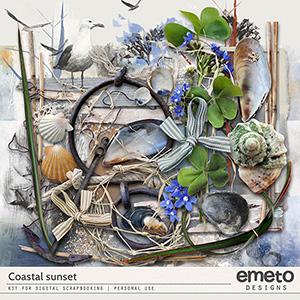 Coastal Sunset Kit by emeto designs
