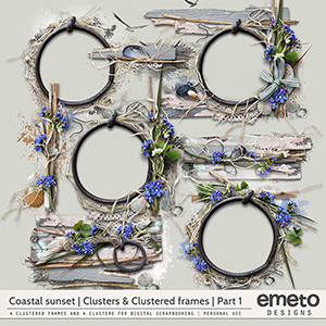 Coastal Sunset Clusters and Clustered frames   Part 1   by emeto designs