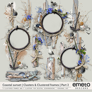 Coastal Sunset Clusters and Clustered frames   Part 2   by emeto designs