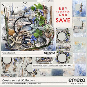 Coastal Sunset Collection by emeto designs