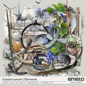 Coastal Sunset Elements by emeto designs