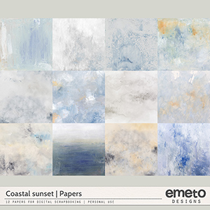 Coastal Sunset Papers by emeto designs
