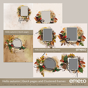 Hello Autumn Quick Pages and Clusters