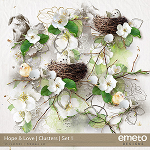 Hope and Love Clusters Set 1