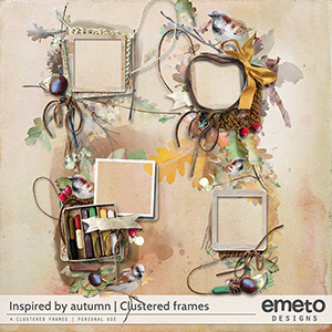 Inspired by autumn - clustered frames
