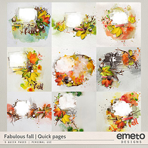 Fabulous fall - Quick pages