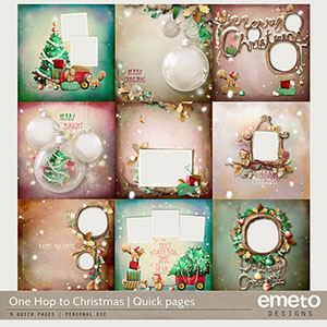 One Hop to Christmas - Quick pages