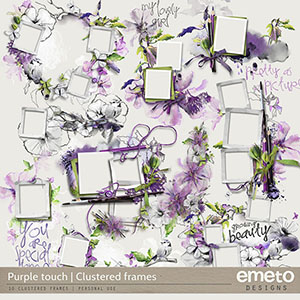 Purple touch - clusters