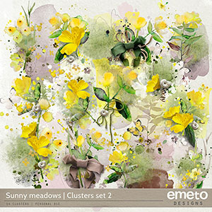 Sunny meadows - clusters set 2
