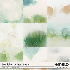 Dandelion wishes - Papers