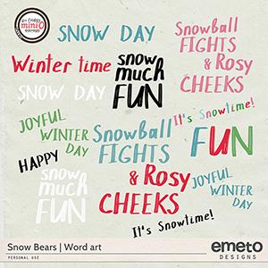 Snow Bears word art