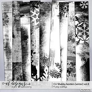 CU Shabby Borders vol.8 {Winter}