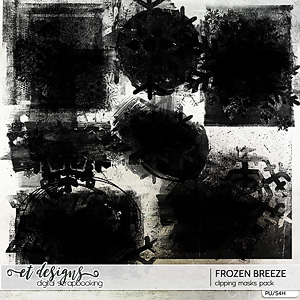 Frozen Breeze Clipping Masks by et designs