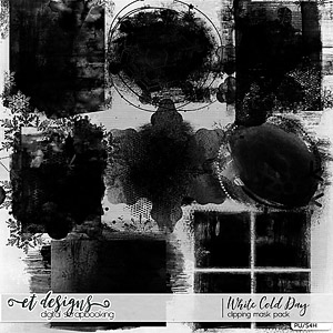White Cold Day Clipping Masks by et designs