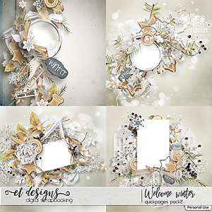 Welcome Winter Quickpages 2 by et designs