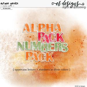Autumn Garden Alpha Pack by et designs