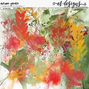 Autumn Garden Playing with Brushes by et designs