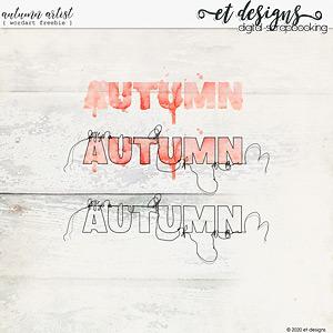 Autumn Artist Wordart FREEBIE