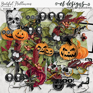 Bootiful Halloween Clusters by et designs