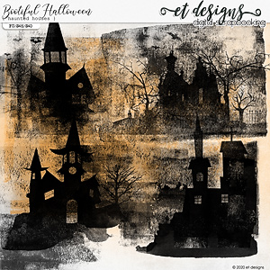 Bootiful Halloween Haunted Houses by et designs