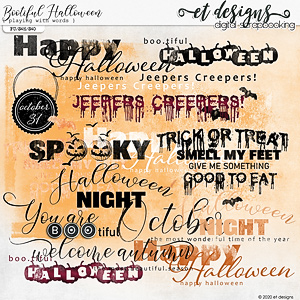 Bootiful Halloween Playing with Words by et designs